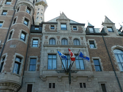 Flags at the Chateau Frontenac