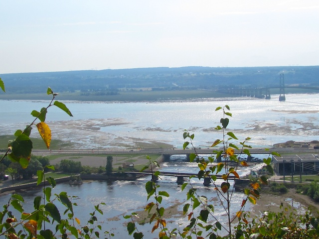 View from the falls of bridge to Orleans