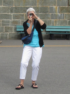 Nancy taking pictures