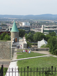 View from the wall around Old Quebec City