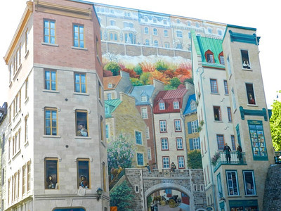 Mural depicting Quebec history