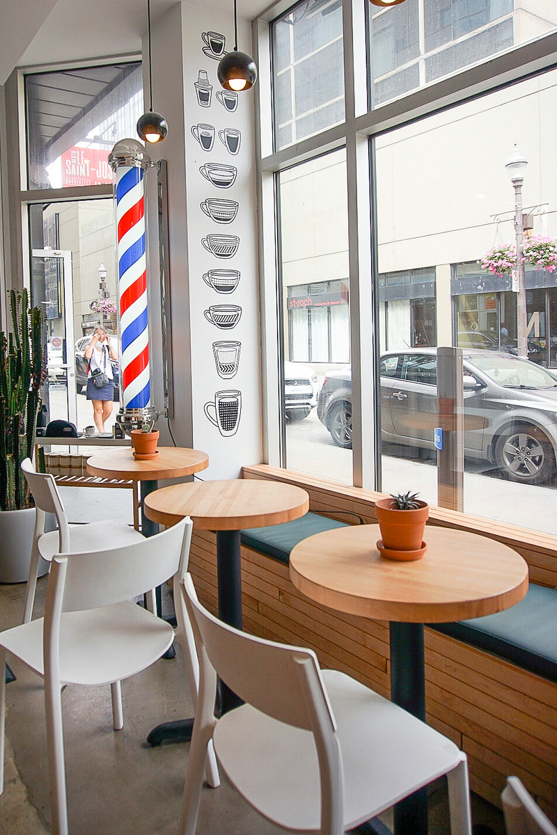 Krwn Barbershop & Cafe is one of the best cafes in Quebec City. For the best coffee and pastries check out the others on our list.