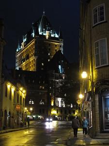 Hotel Chateau Frontenac at night