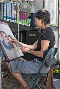 Portrait of Portraitist Louise Jobin, rue Sainte-Anne