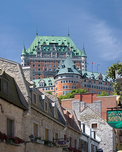 Chateau Frontenac from Sous-le-Fort, Quebec City