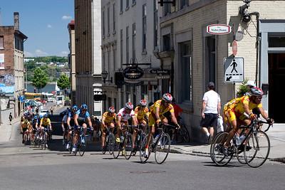 Bicycle Race on Cote de la Montagne