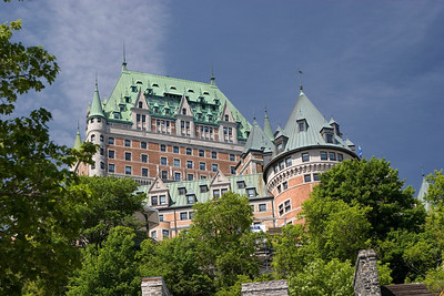 Chateau Frontenac from Marche Champlain
