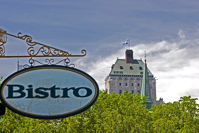Chateau Frontenac Bistro Sign