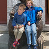 Jacob and Jesse in the bear chair