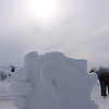 snow sculpture... looks like brain freeze to me