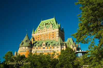 The Chateau Frontenac soon after sunrise.