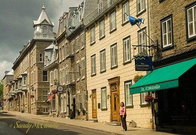 A street view in Quebec City.