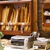 Fresh croissant and baguettes