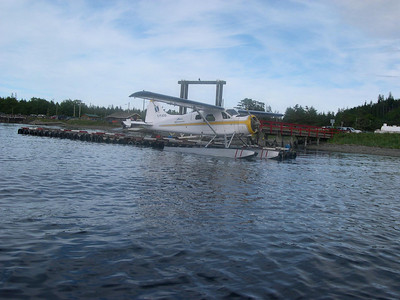The next adventure requires flying in a float plane.