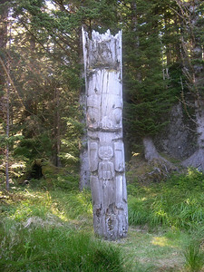 Totem pole in Gwaii Haanas National Park.