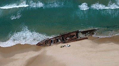 Fraser Island from a helicopter
