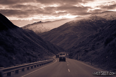 Mountain pass on the way to Cardrona for the last day