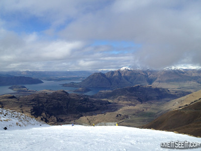 Front run at Treble Cone looking over Laka Wanaka