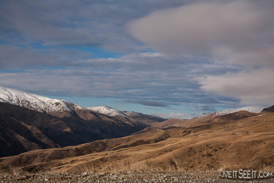 Driving up the Cardrona access road