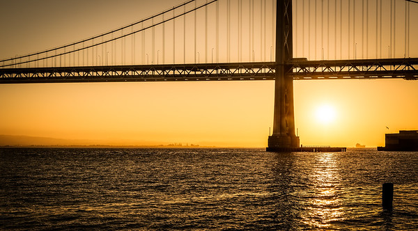 Golden Bay Bridge Sunrise