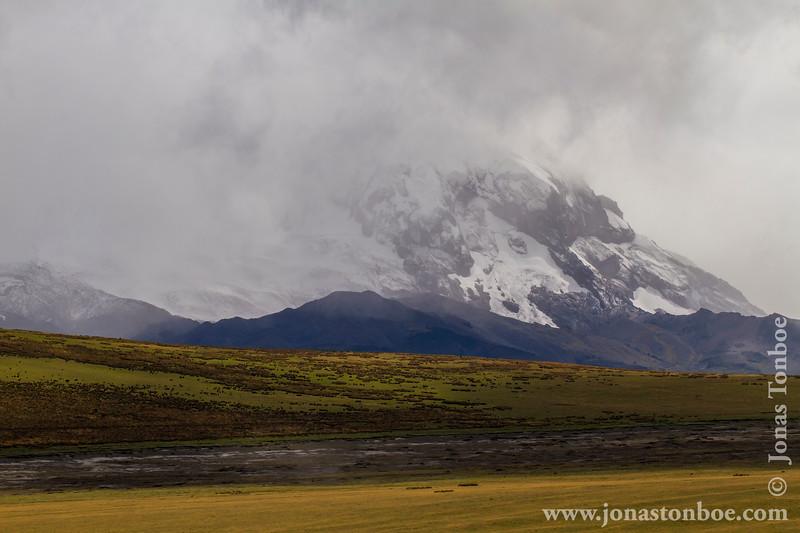Antisana Volcano Veiled in Clouds