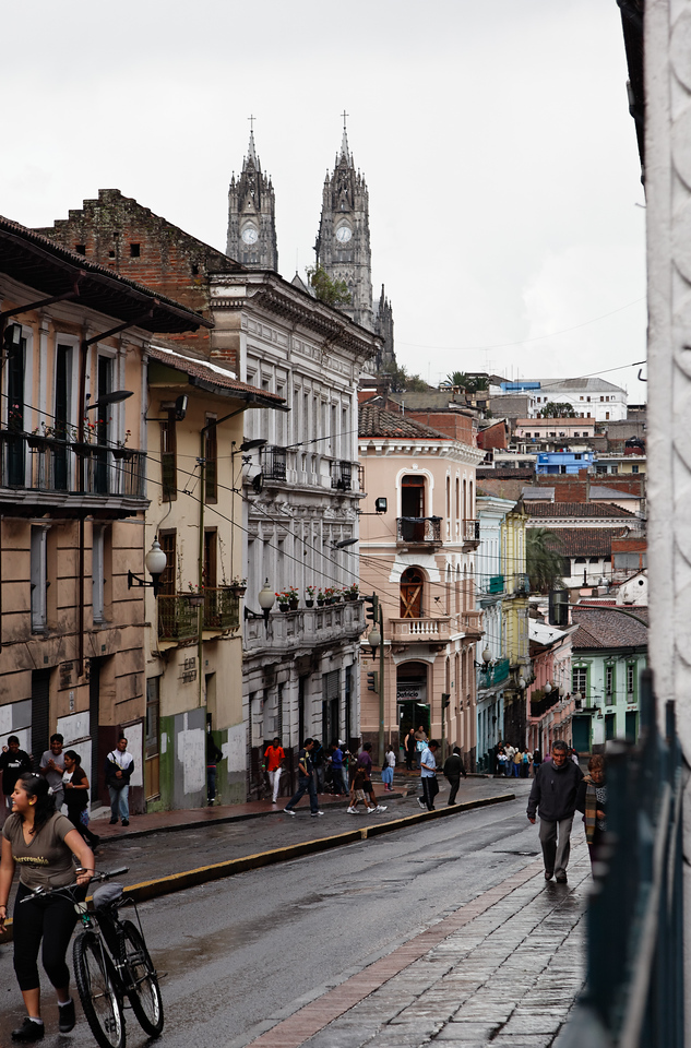Views of old town Quito