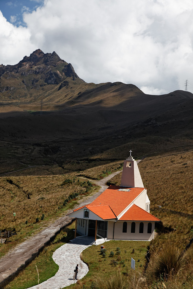 Chapel on the Pichincha vulcano