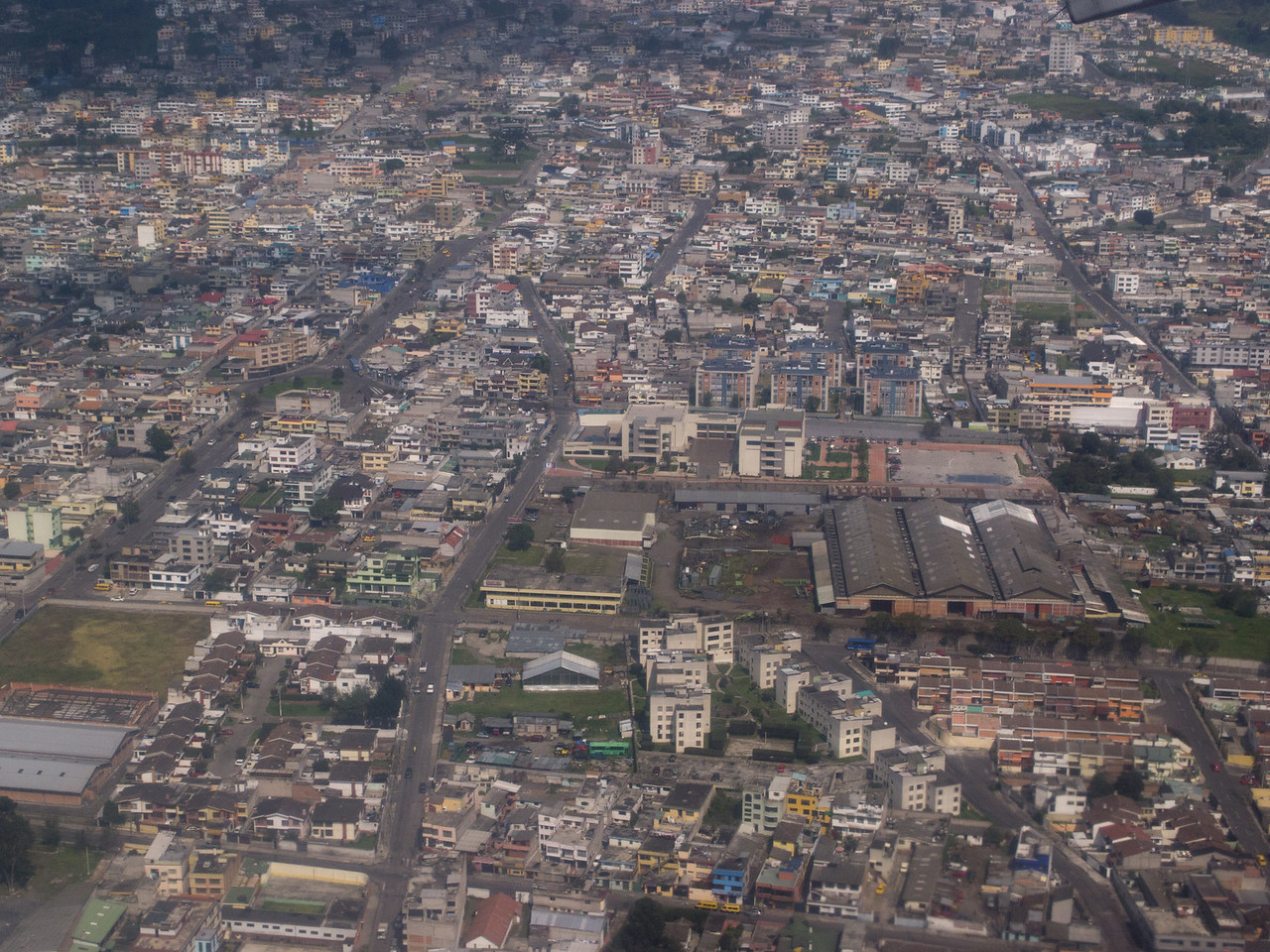 Quito from the air (flying to the Galapagos)