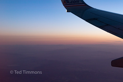 Sunrise seen in the plane. It's rare I see a sunrise- and never willingly.