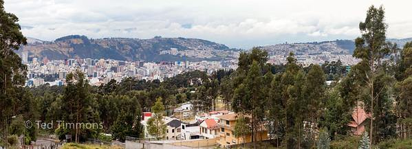 Looking at Quito from the Antenas del Pichincha climb.