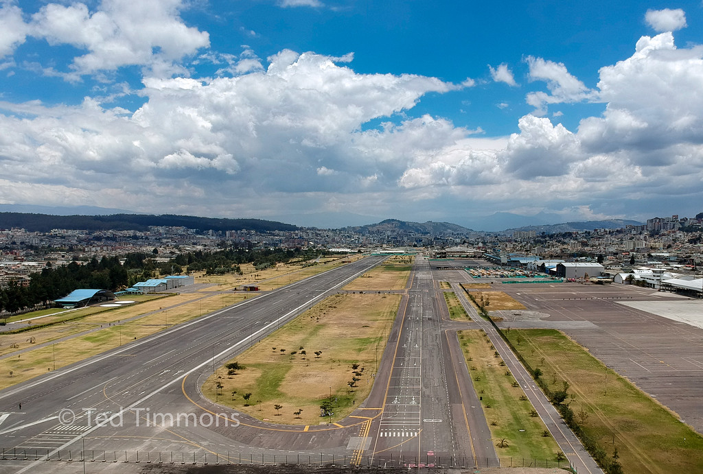 The view from Quito's old airport.
