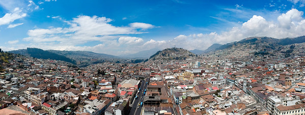Looking south across the rooftops to El Panecillo.
