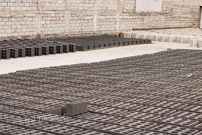 Cement block production.