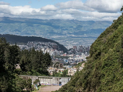 Quito, from Hacienda Rumiloma