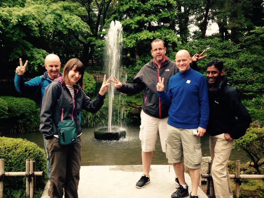 Old fountain in the Kenroken Gardens in Kanazawa.