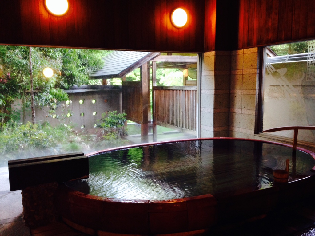 Natural hot spring bathroom