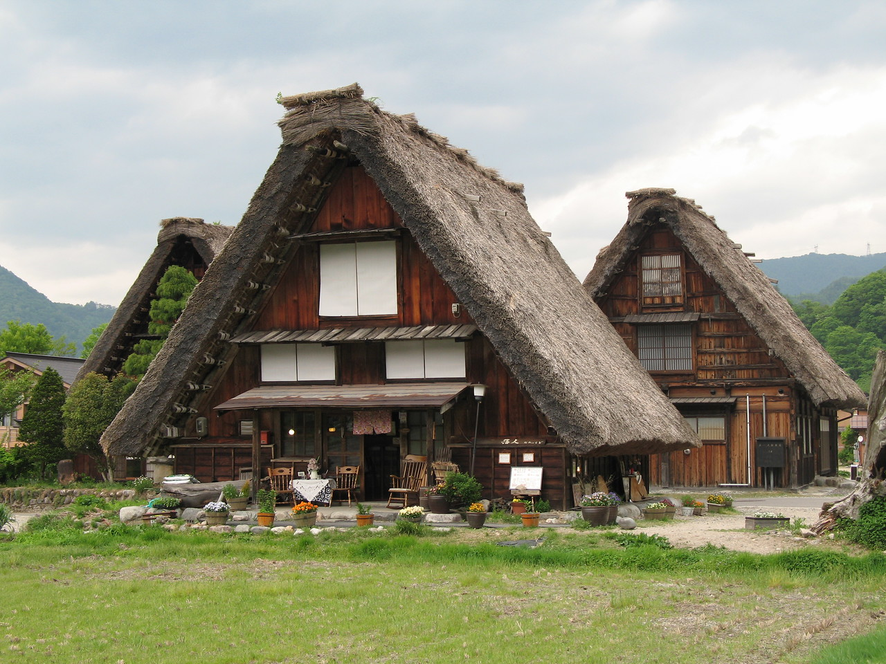 Thatched farmhouses in Shirakawago.
