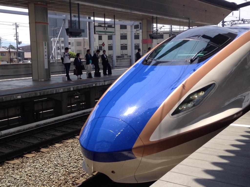 The new bullet train line to Kanazawa