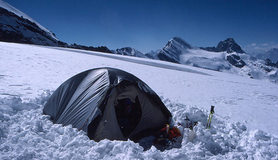Ramdung high camp on the glacier