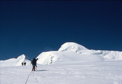 Approaching the summit dome of Ramdung Peak (5930m)
