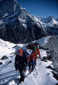 On a moraine ridge heading for Ramdung high camp