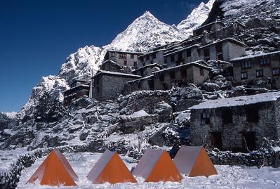 Magical camp at Beding, in the Rowaling Valley