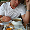 Birthday lunch starting with soupe de poisson