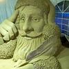 Santa making his list, Sand Sculpture, South Padre Island