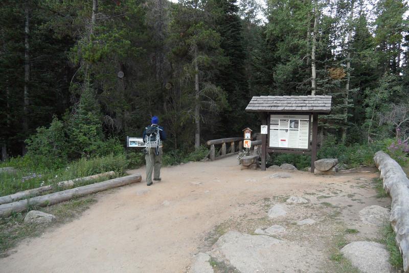 Dan starting down the trail.