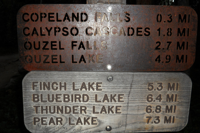 Kathie went almost to Bluebird Lake. Kurt and Dan went WAY PAST Thunder Lake.