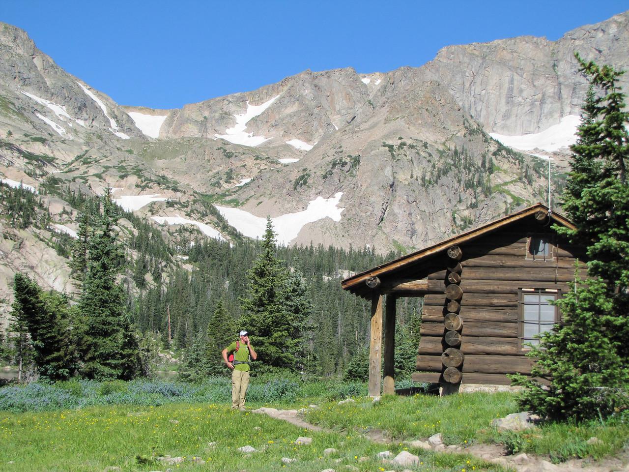 Kurt by the Ranger Cabin at Thunder Lake