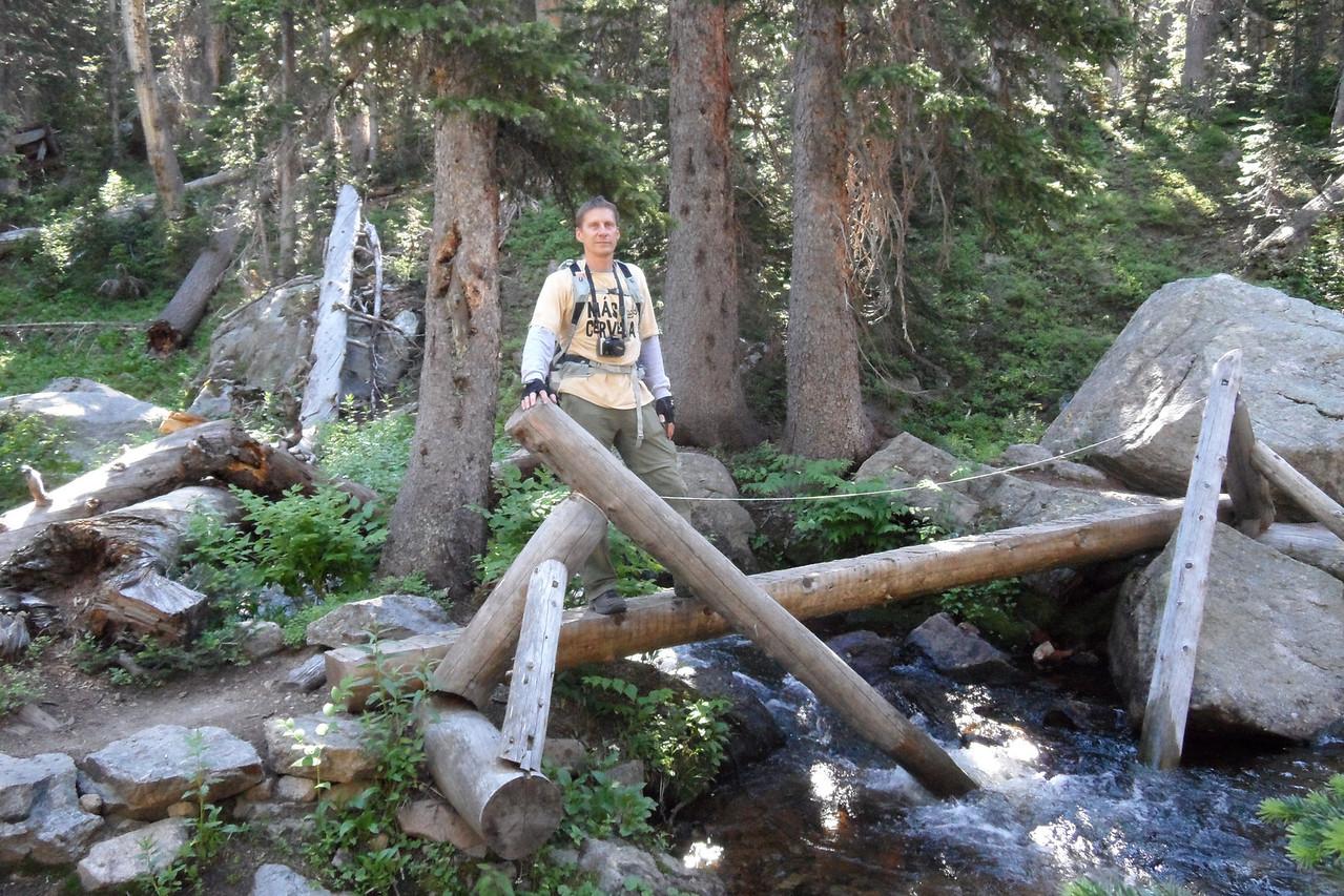 Dan at another creek crossing.
