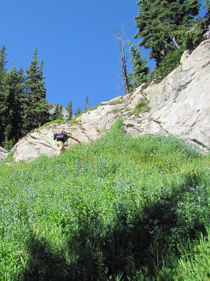 Kurt getting ready for a little climbing