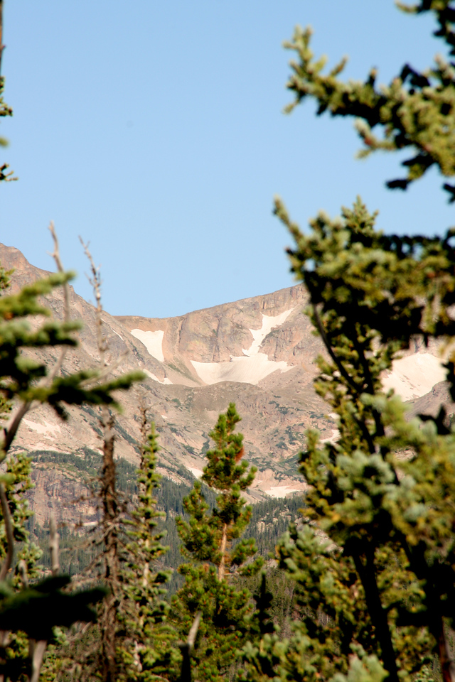The zoomed in view of the previous picture - this is Boulder-Grand Pass.